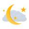 キレイな三日月と雲01