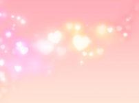 ピンク色のハートが輝く様子